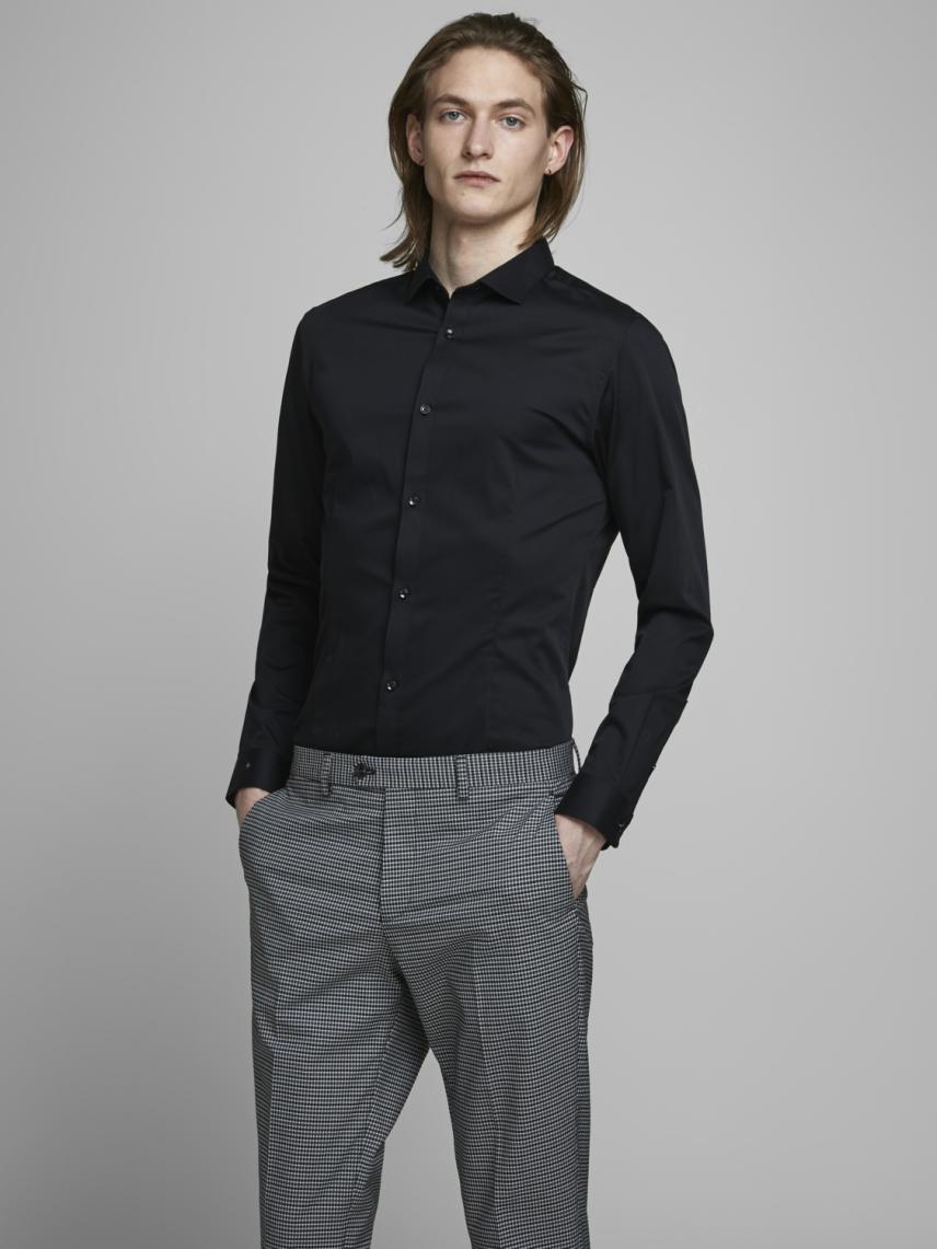 Düz Renk Süper Slim Klasik Gömlek