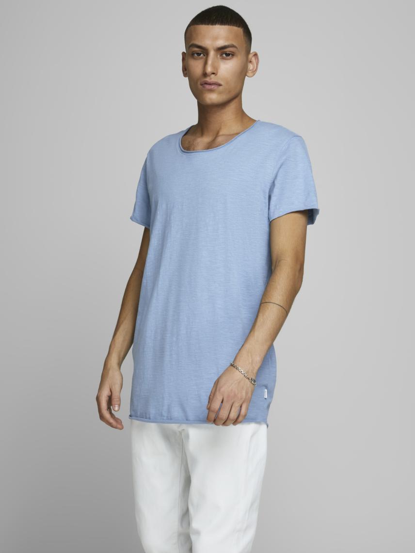 Geniş Yaka Basic Tişört