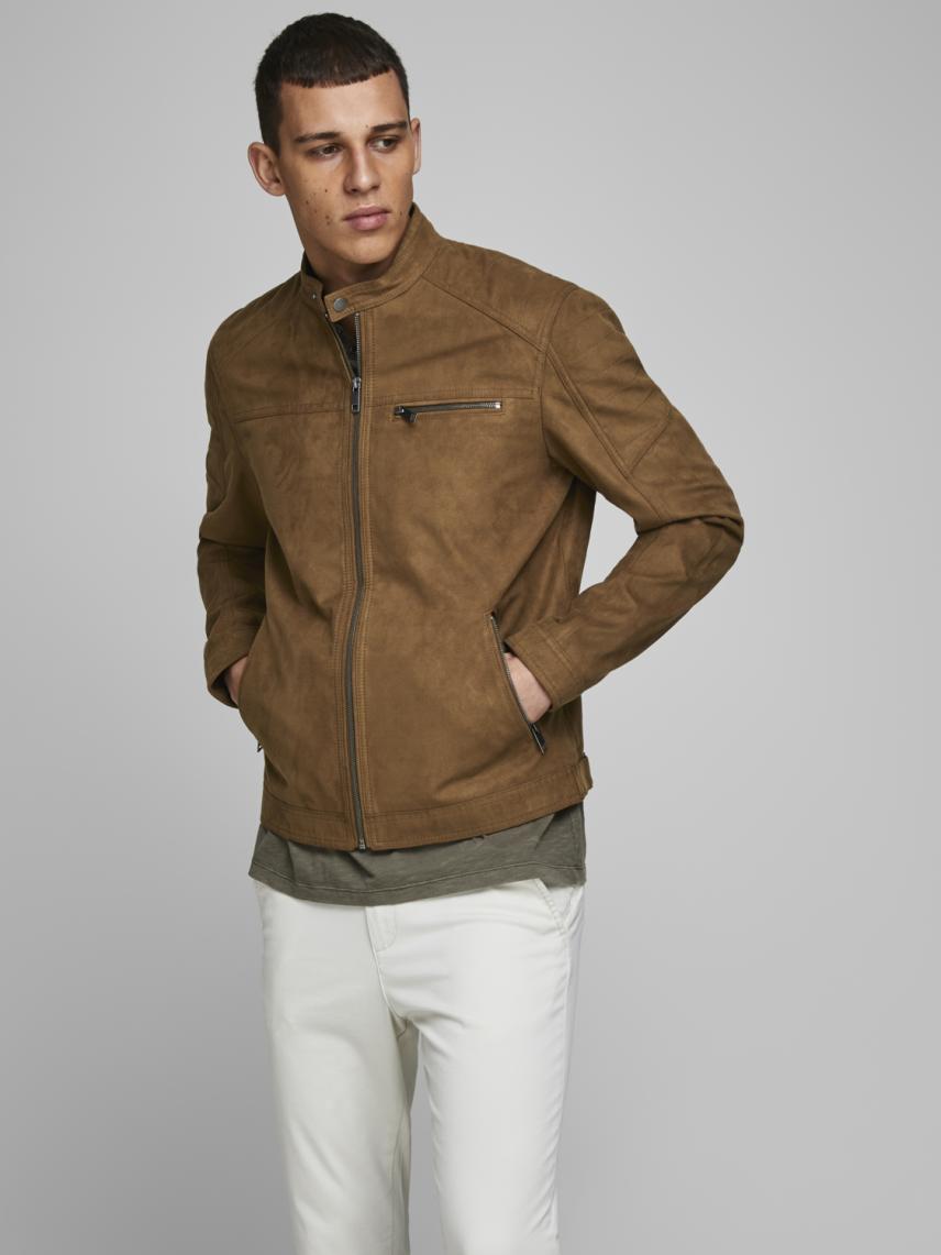 Deri Görünümlü Ceket