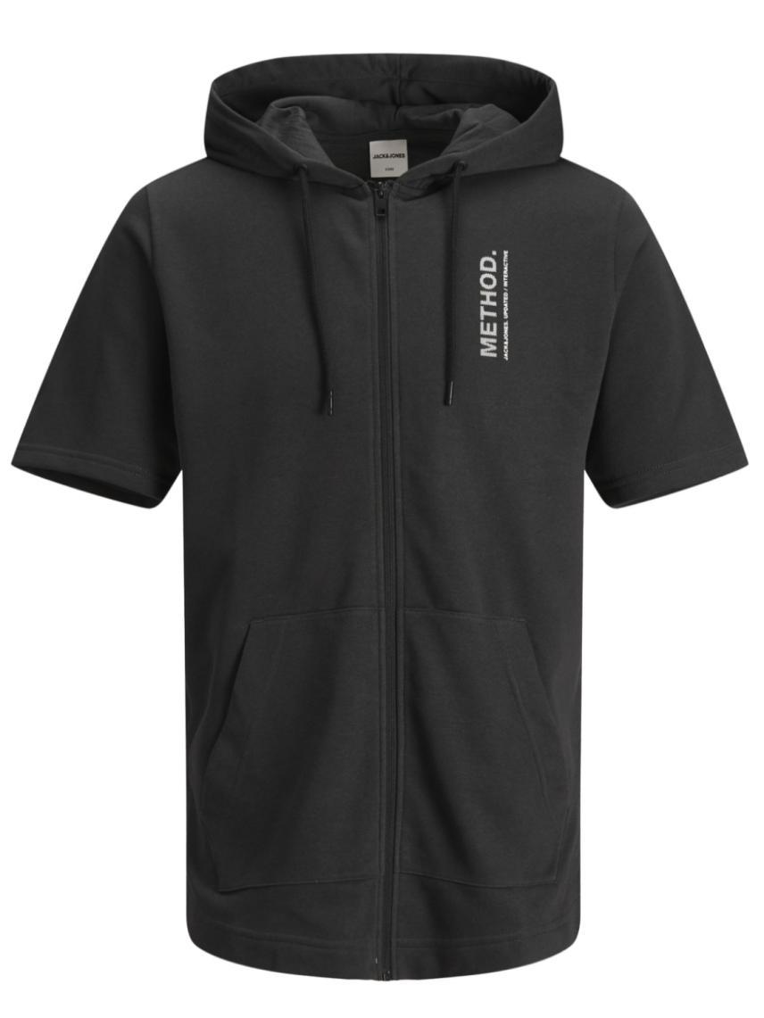 Kapüşonlu Kısa Kollu Sweatshirt