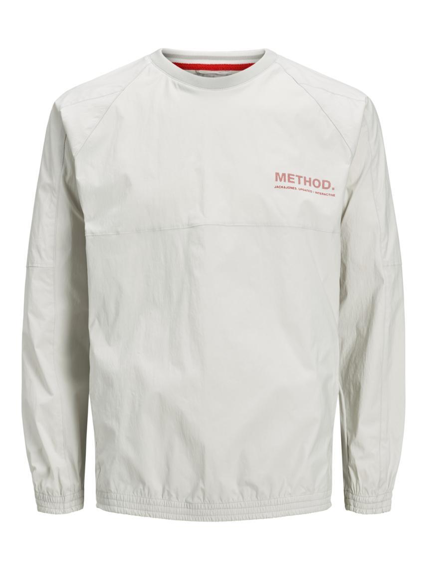 Yuvarlak Yaka Teknik Sweatshirt