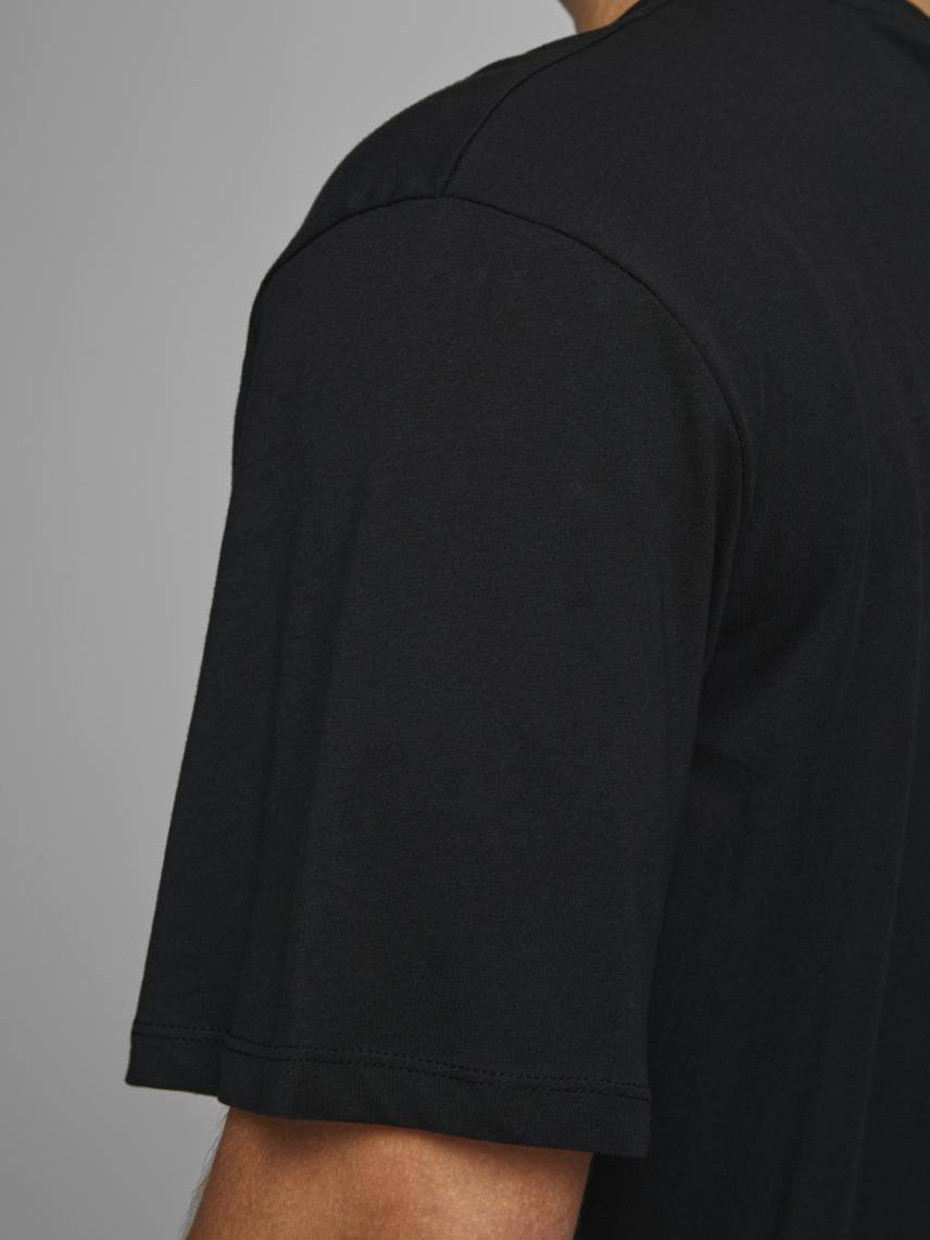 Yuvarlak Yaka Logolu Tişört