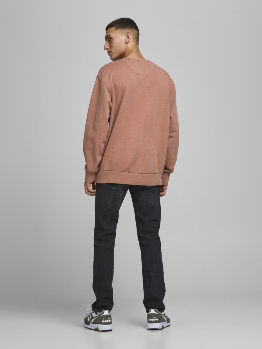 Bisiklet Yaka Basic Sweatshirt