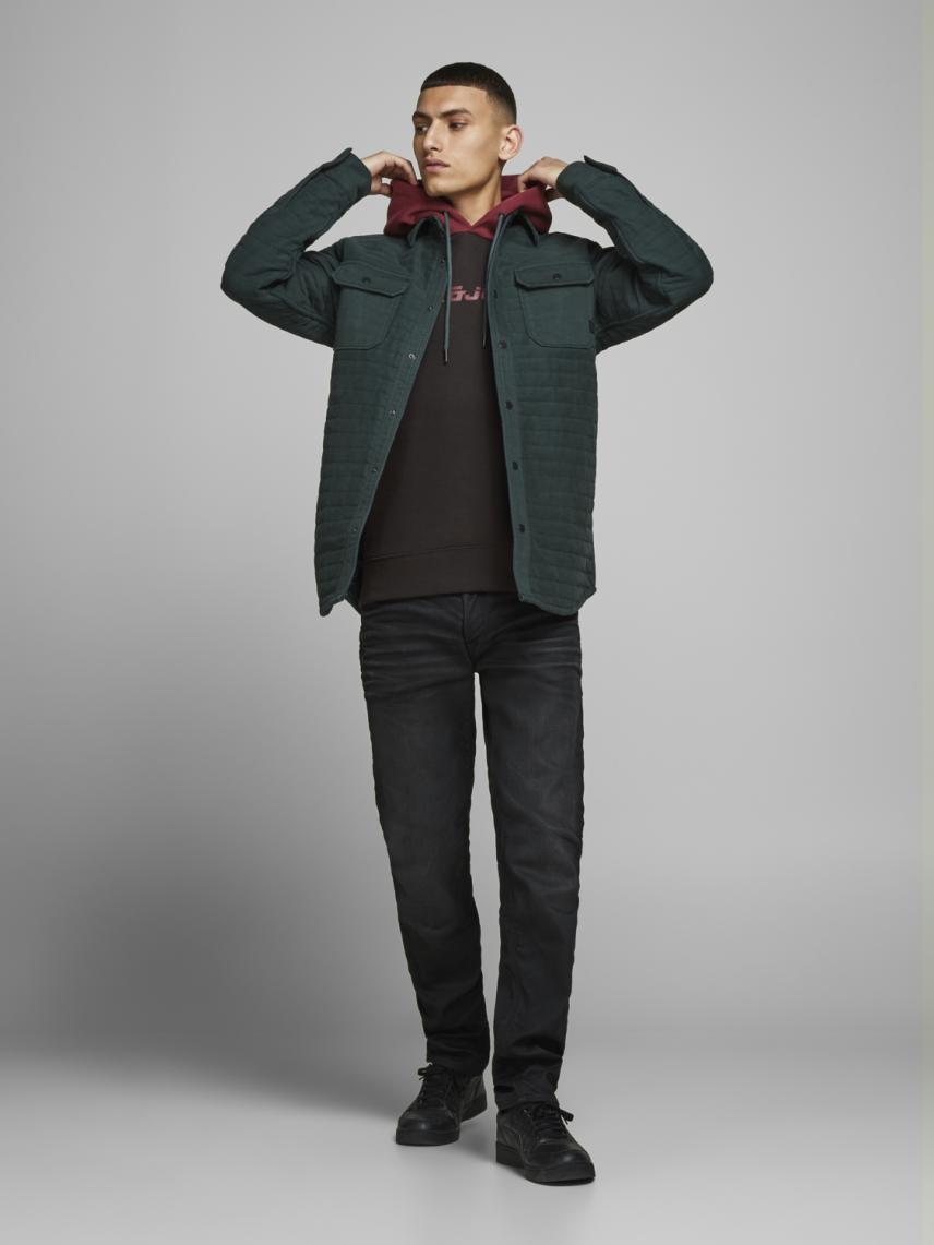 Kapüşonlu Blok Renkli Sweatshirt