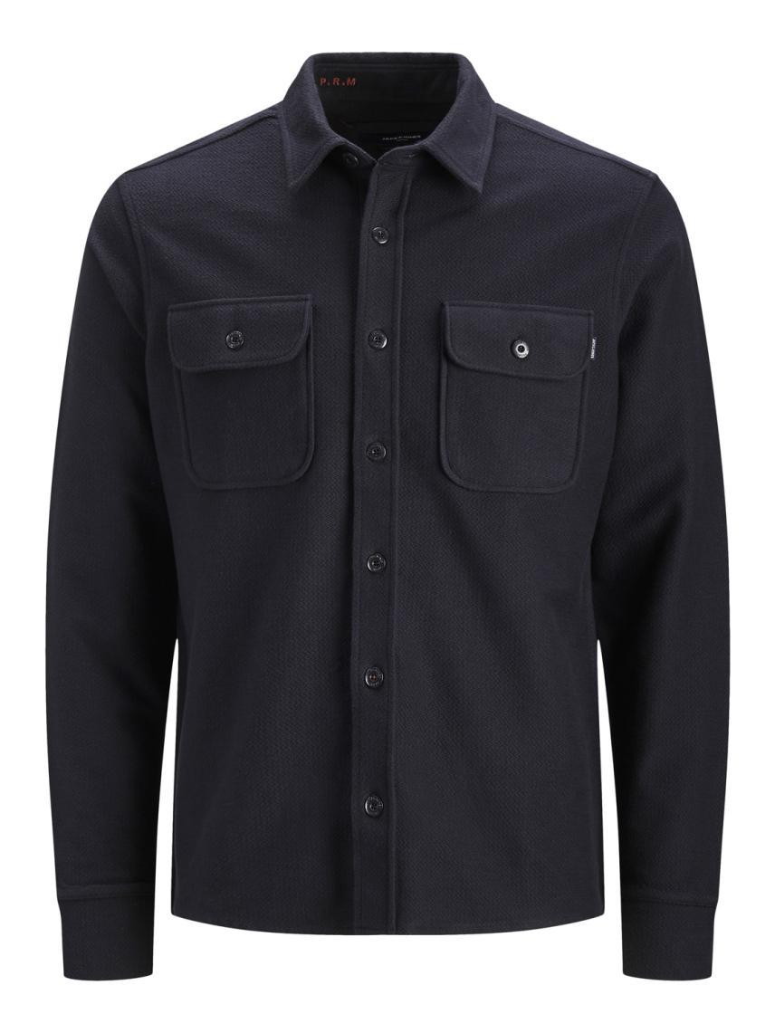 Düz Renk Rahat Kesim Gömlek Ceket