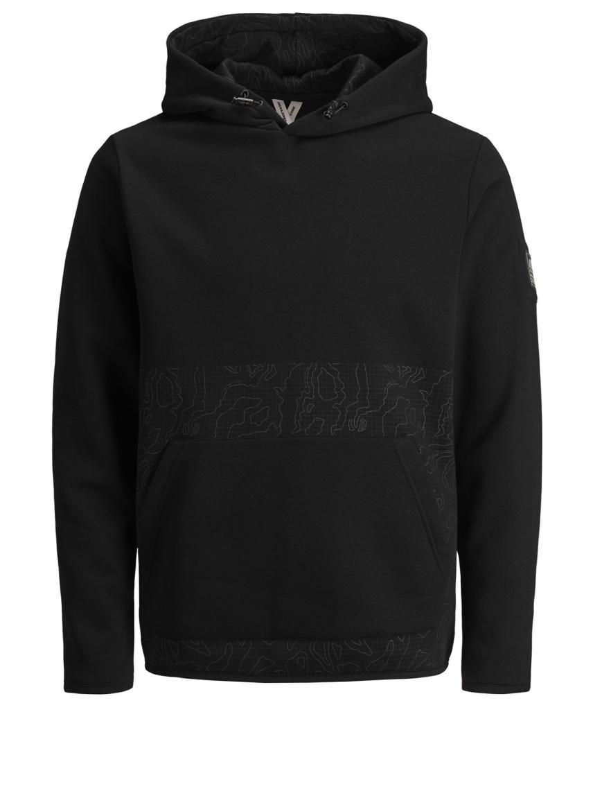 Kapüşonlu İşleme Detaylı Sweatshirt
