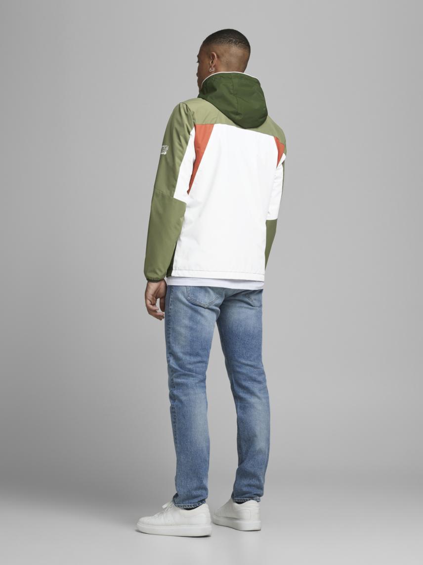 Kapüşonlu Renk Detaylı Ceket
