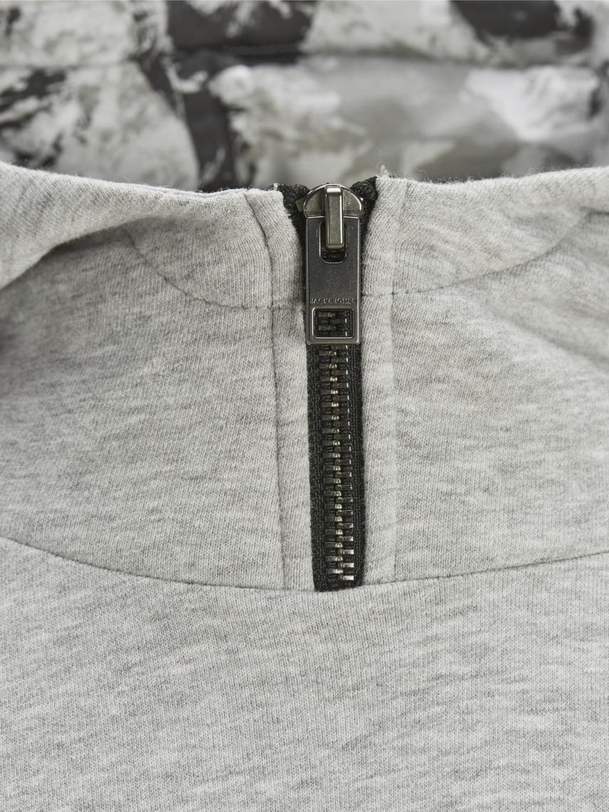 Kapüşonlu Yakası Fermuar Detaylı Sweatshirt