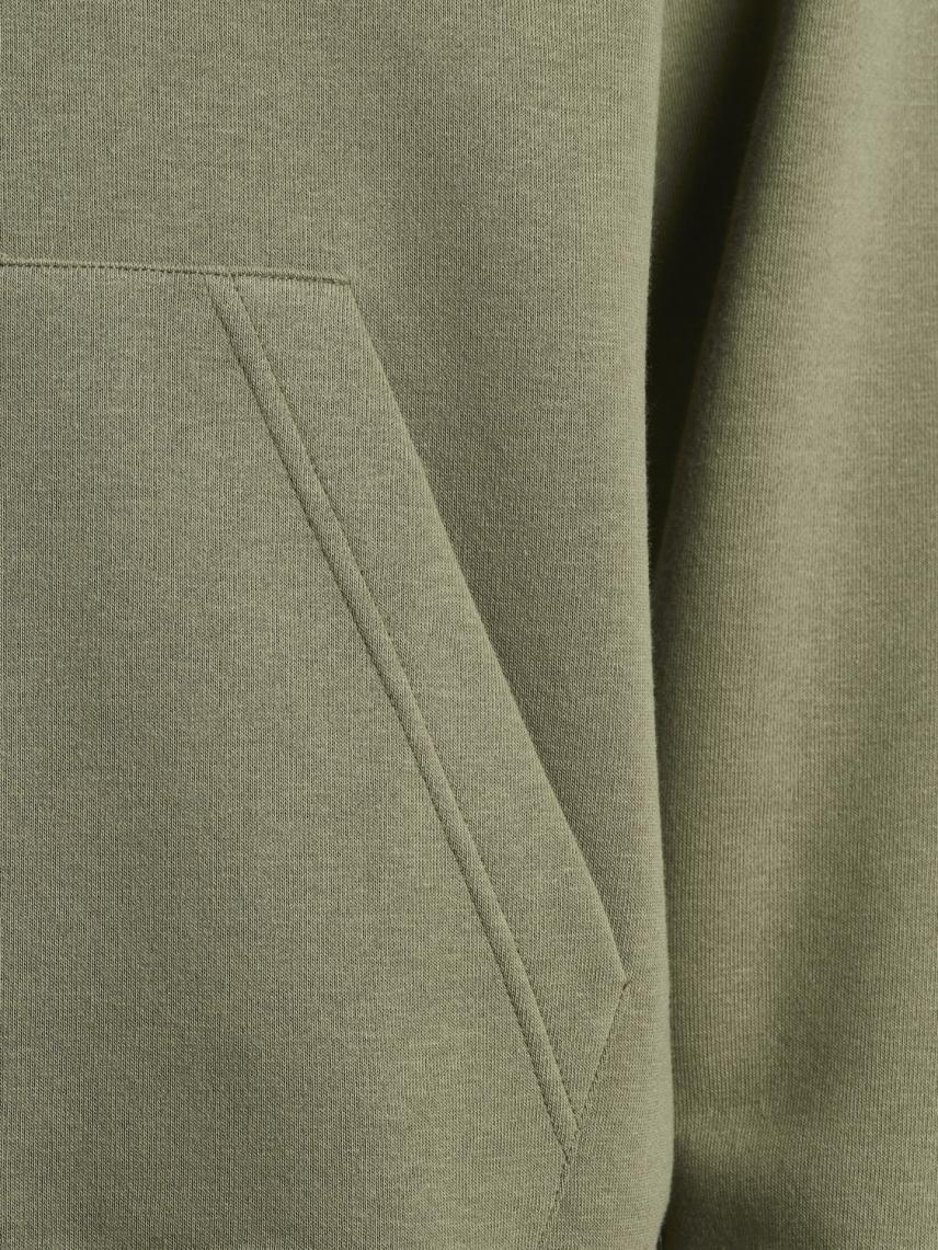 Düz Renk Kapüşonlu Sweatshirt