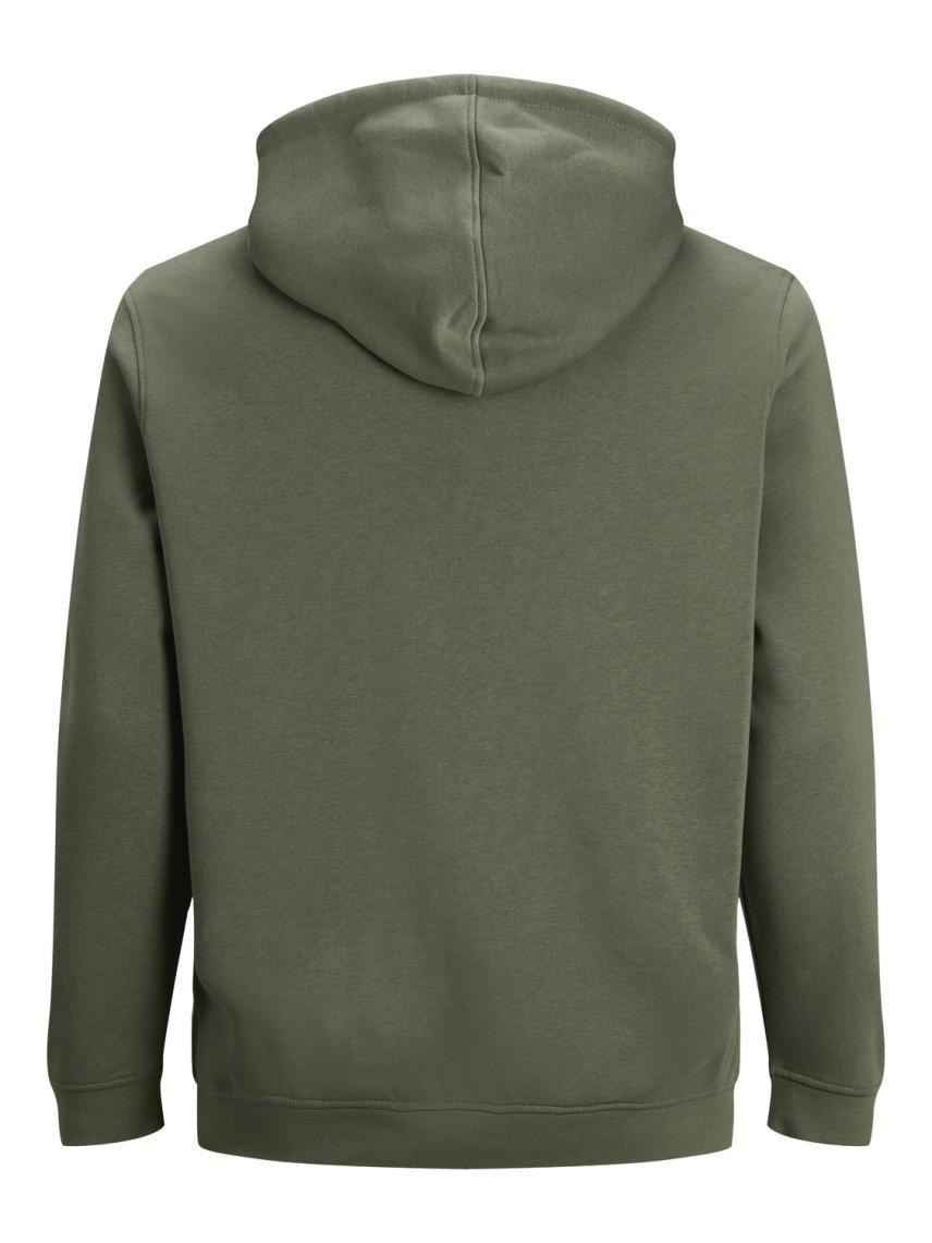 Kapüşonlu Düz Renk Sweatshirt