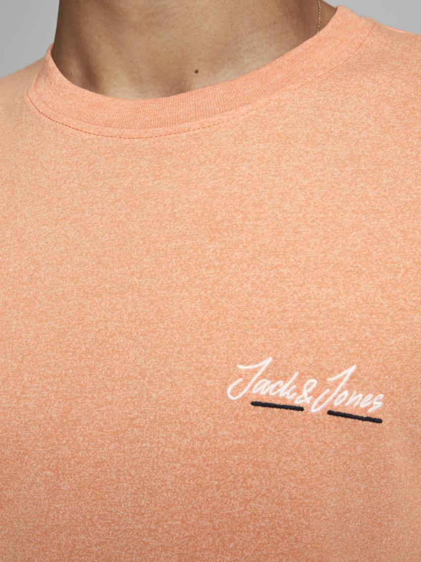 Bisiklet Yaka Logo Baskılı Tişört
