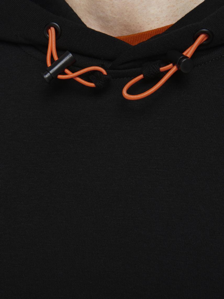 Şerit Detaylı Kapüşonlu Sweatshirt
