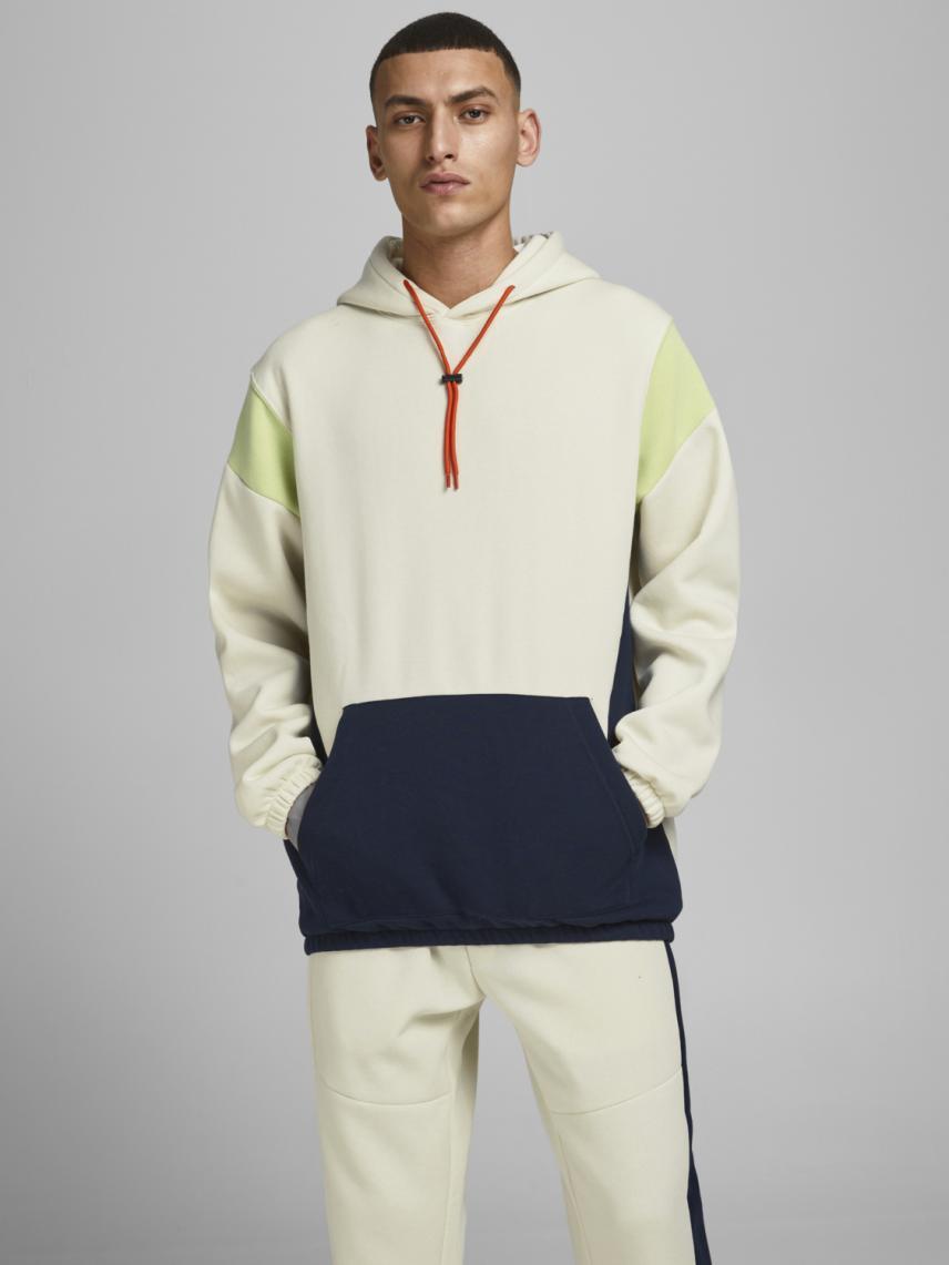 Blok Desenli Oversize Sweatshirt