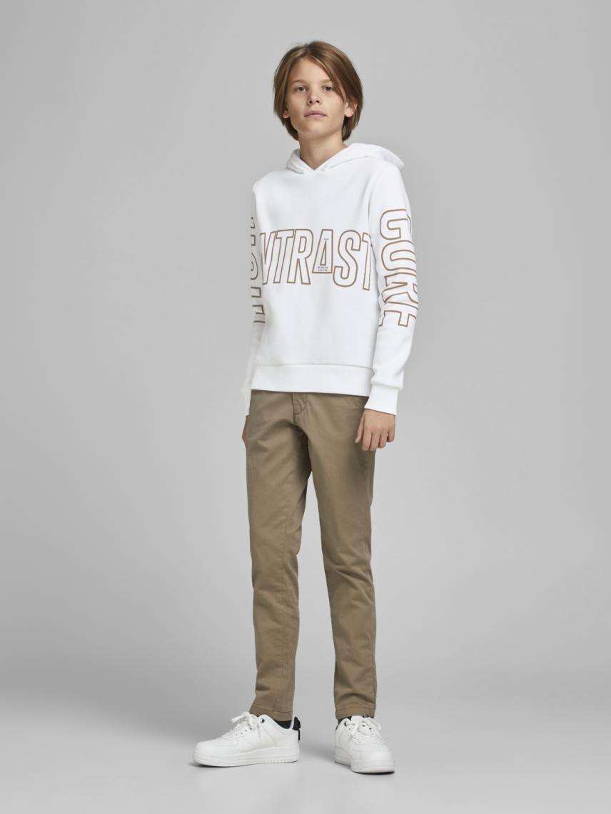 Kapüşonlu Yazılı Sweatshirt