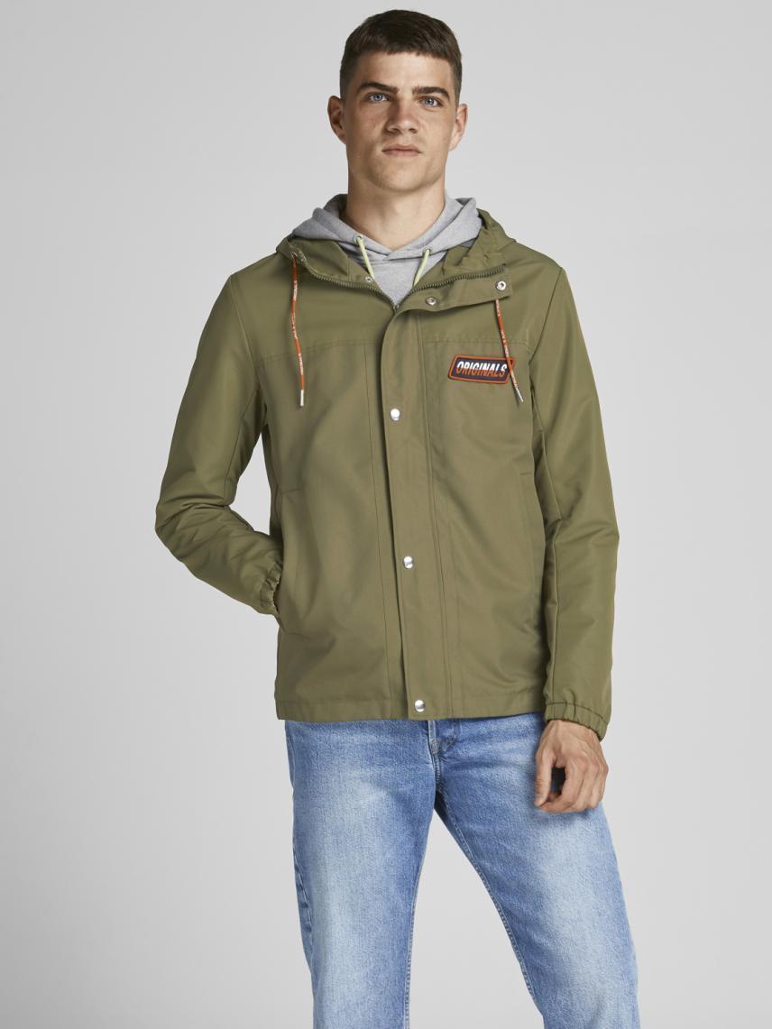 Kapüşonlu Logo Detaylı Ceket