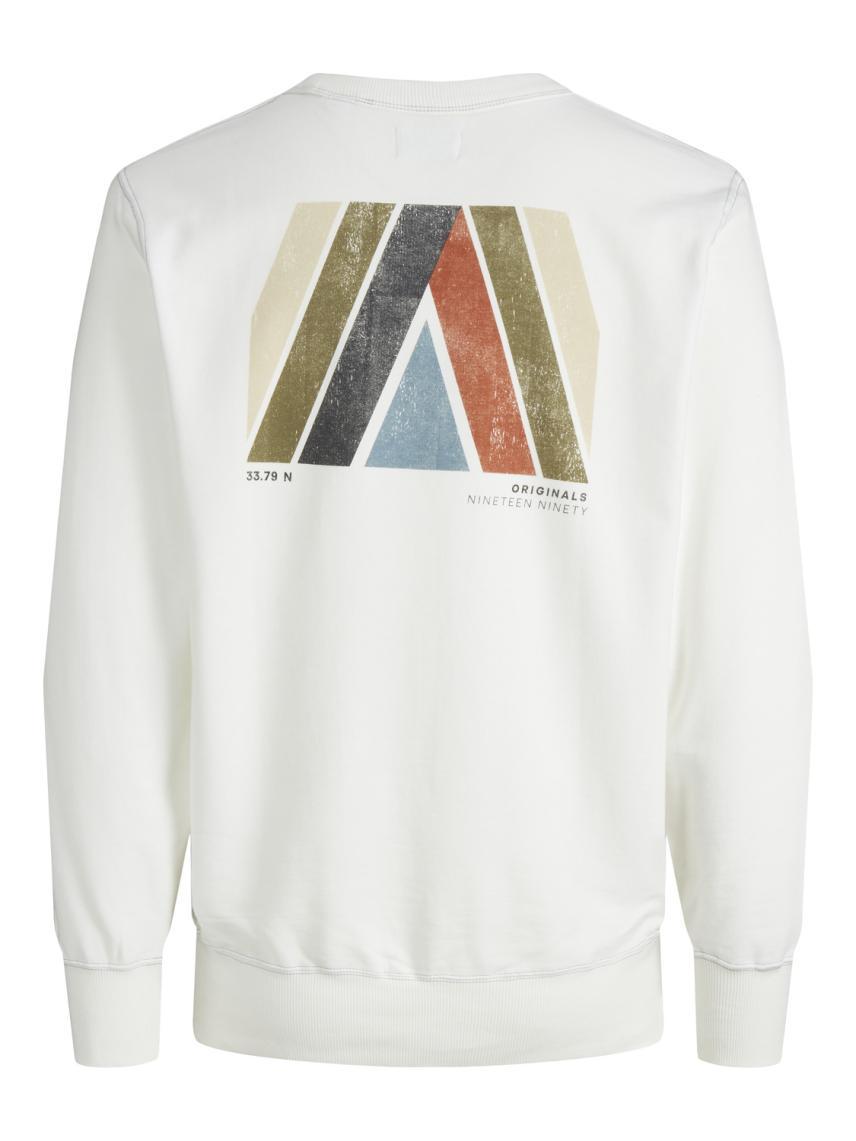 Sırt ve Göğüs Baskılı Sweatshirt