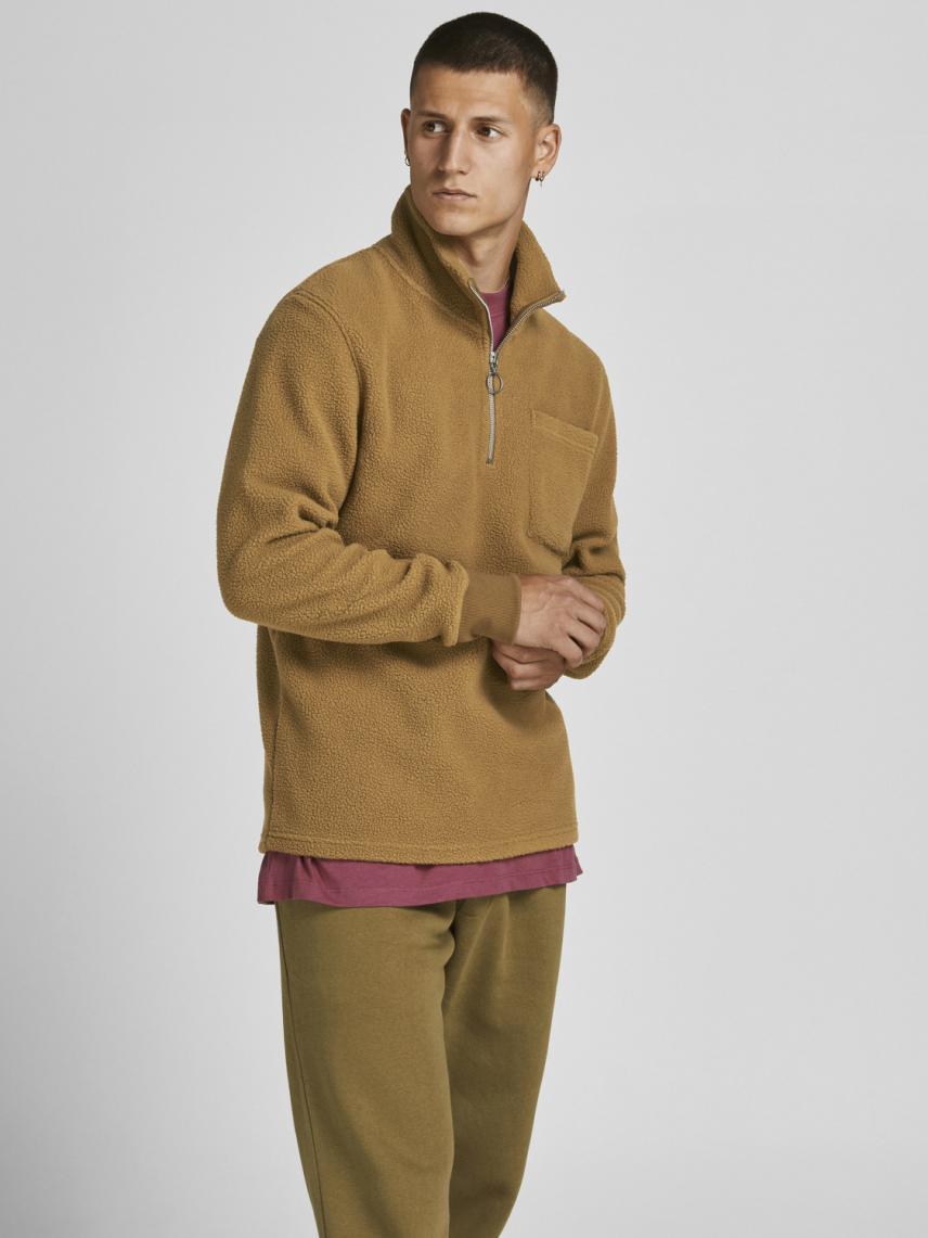 Yarım Fermuarlı Polar Sweatshirt