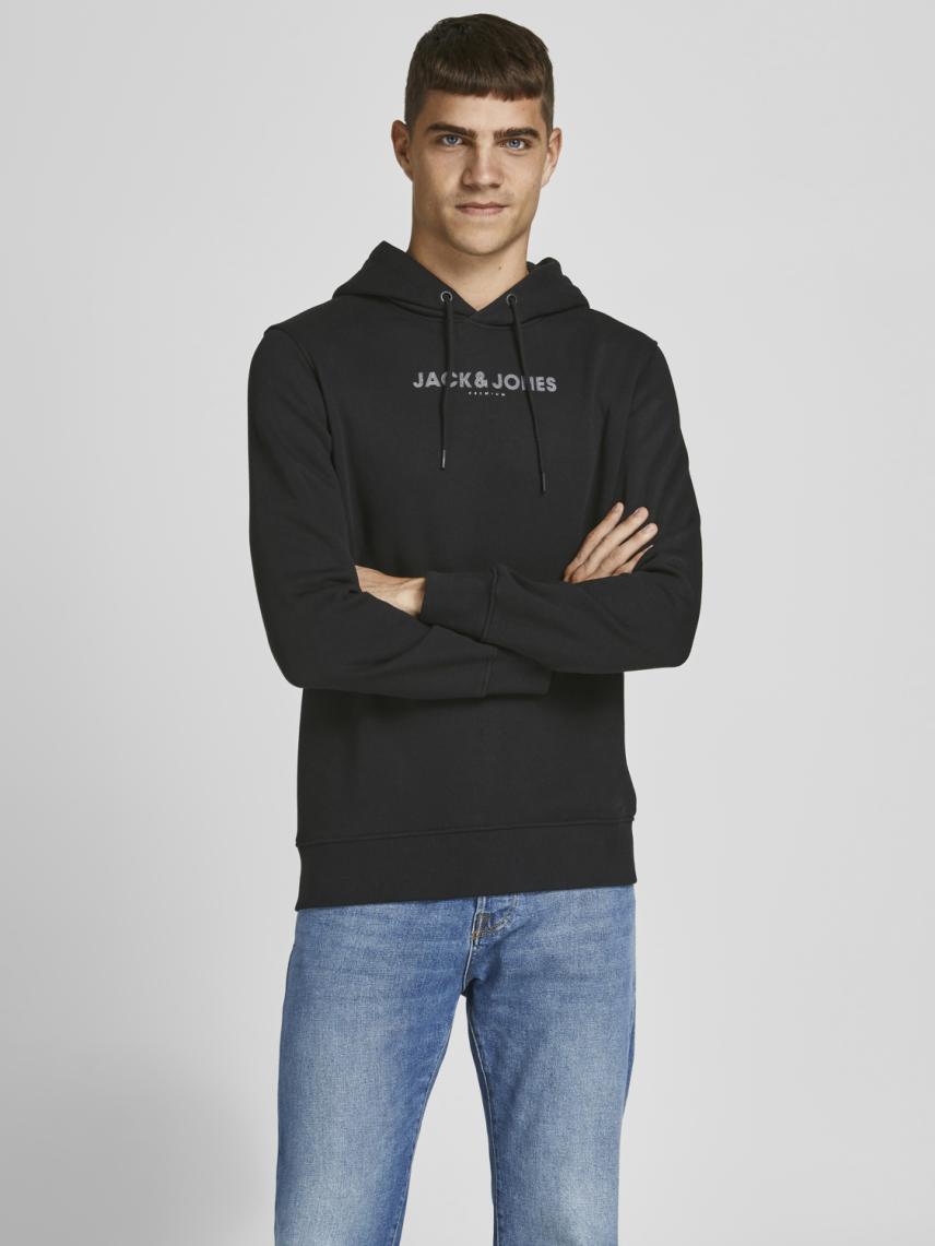 Kapüşonlu Logo Baskılı Sweatshirt