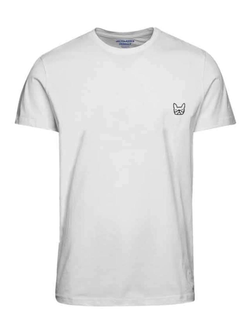 Bisiklet Yaka Logo İşlemeli Tişört